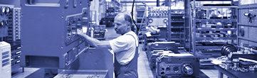 industrie mecanique - bleu