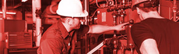 maintenance industrielle - rouge